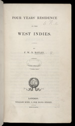 Four Years: Residence In The West Indies -Title page